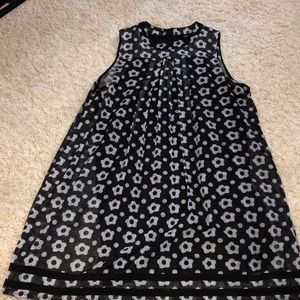 appears NWOT Black and white floral dress